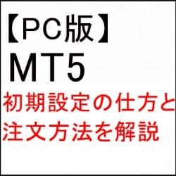 注文方法 初期設定 MT5 PC