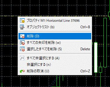 mt5,水平線,削除,