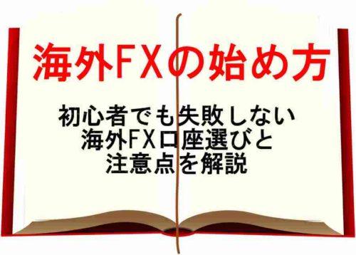 海外FX,始め方,